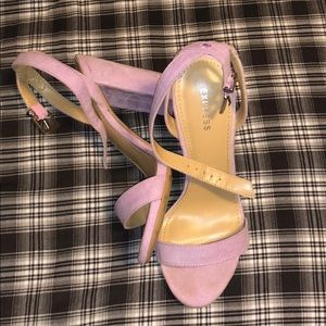 Express lilac suede heels !!